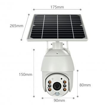 8W Solar Powered Surveillance Camera by UTICA®