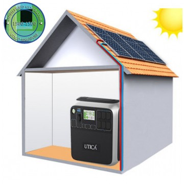 10.2m² Roof Surface Area Required. For UTICA® MobileGrid Generator 1500-1500 (Off-Grid Solution)