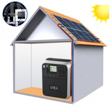 13.6m² Roof Surface Area Required. For UTICA® MobileGrid Generator 2000-2000 (Off-Grid Solution)