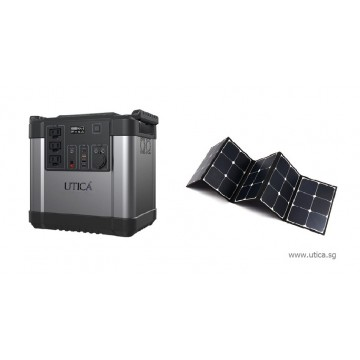 1.8m² Roof Surface Area Required For UTICA® MobileGrid Solar Generator 300-1500 (Off-Grid Solution)