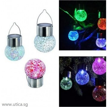 UTICA® Solar Suspended Frosted Pendants (4 pcs)