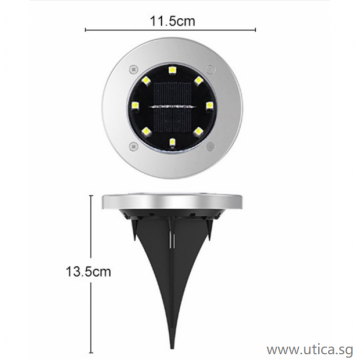 UTICA® Ground Surface Solar Lighting - 4pcs