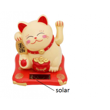 Solar Lucky Cat Decoration by UTICA®